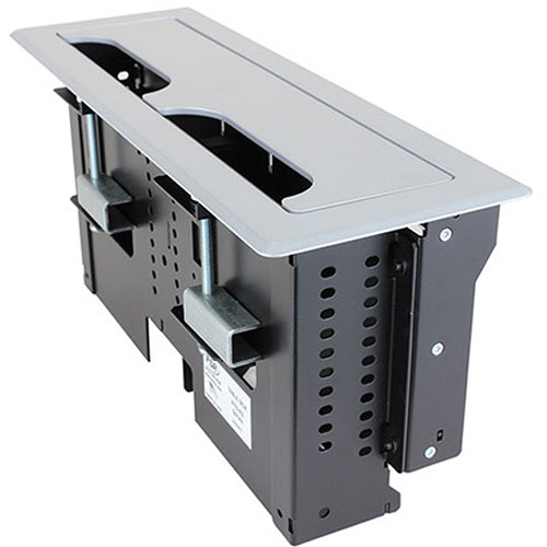 FSR Rectangular Table Box for 2 T6 Large Brackets / Up to 8 TBRT Cable Retractors (Silver)