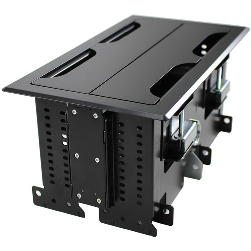 FSR Rectangular Table Box for 4 T6 Large Brackets / Up to 16 TBRT Cable Retractors (Black)
