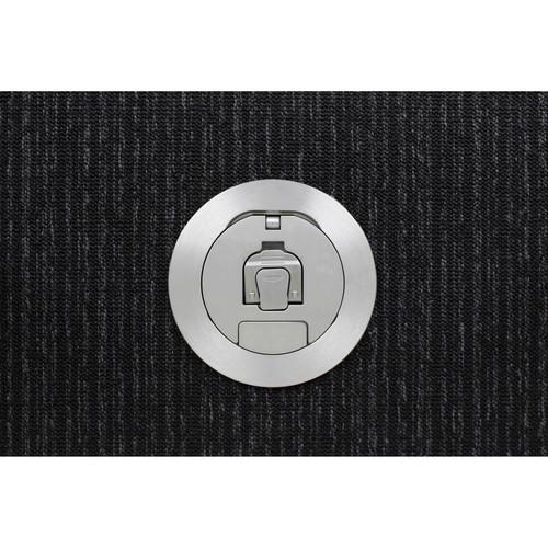 "FSR SmartFit 4"" Complete 4AC Poke Thru (Aluminum Cover)"