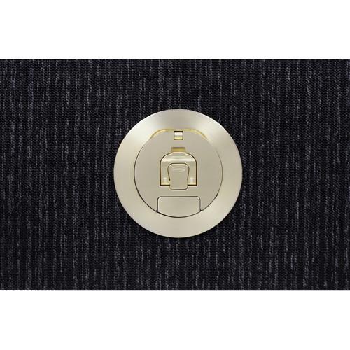 "FSR SmartFit 4"" Complete 4AC Poke Thru (Brass Cover)"
