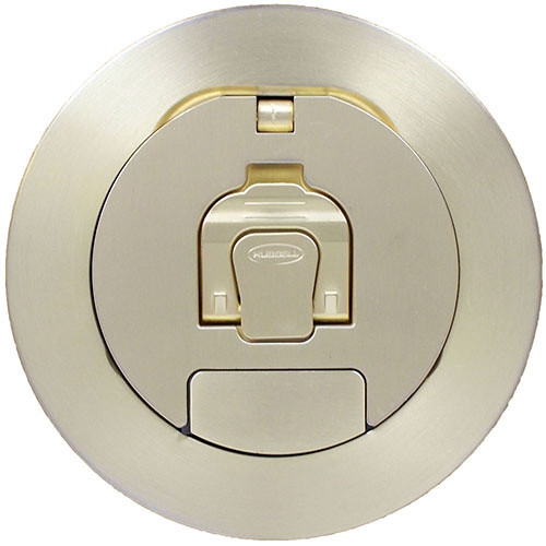 """FSR Cover for SF4 4"""" Fire-Rated Poke-Thru (Brushed Brass Plated)"""