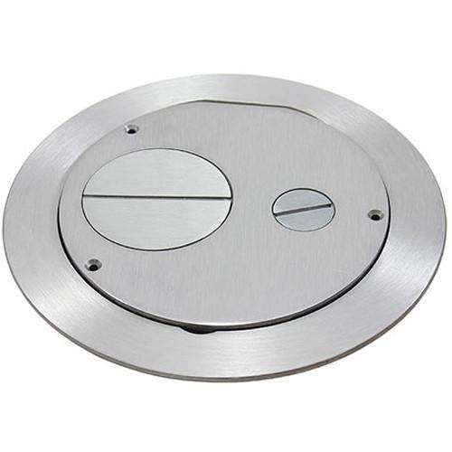 "FSR Furniture Feed Cover for 6"" SmartFit Poke-Thru Floor Box (Aluminum)"