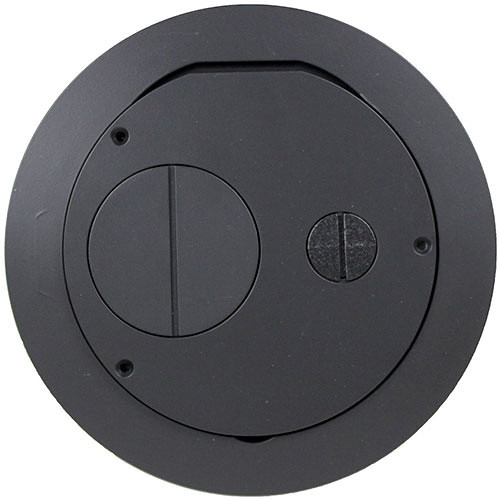 "FSR Furniture Feed Cover for 6"" SmartFit Poke-Thru Floor Box (Black)"