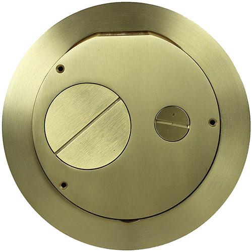 "FSR Furniture Feed Cover for 6"" SmartFit Poke-Thru Floor Box (Brass)"
