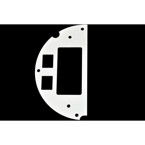 """FSR 6"""" SmartFit Poke-Thru Optional Parts 50/50 Split , Decora, 2 Keystone (Left)"""
