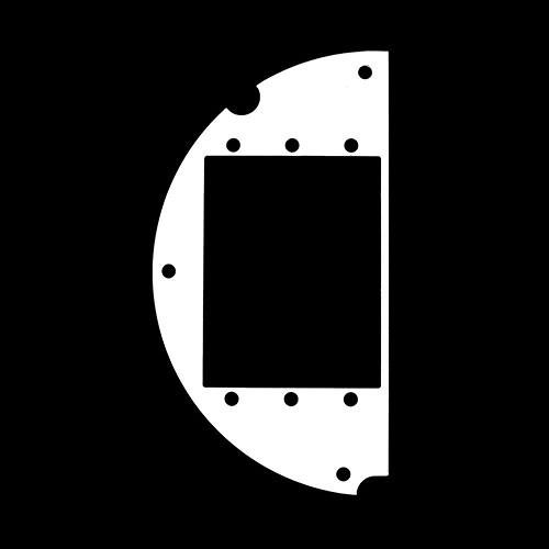 """FSR 6"""" SmartFit Poke-Thru Optional Parts 50/50 Split , 3 AAP (Left)"""