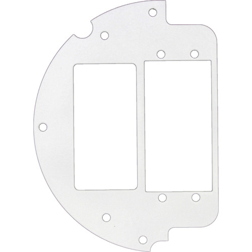 """FSR 6"""" Optional Parts 60/40 Split Plate with Decora & 2-Extron AAP Opening (Left)"""