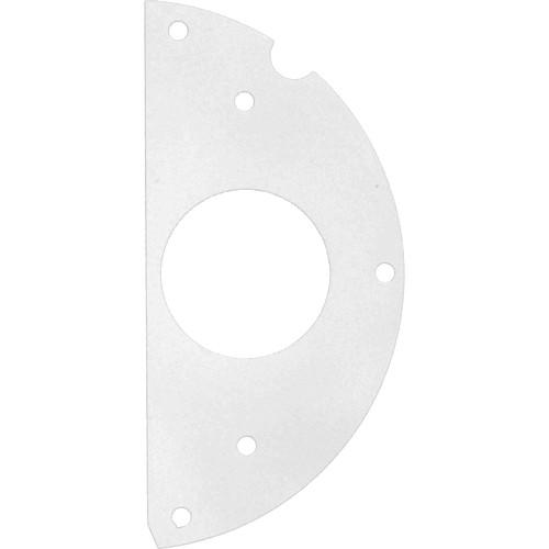 """FSR 6"""" SmartFit Poke-Thru Optional Parts 50/50 Split , 1.56"""" Twist-Lock Sub-Plate (Right)"""