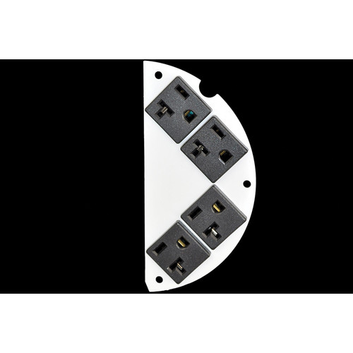"FSR 6"" SmartFit Poke-Thru Optional Parts 50/50 Split , 4 Pre-Wired Power Cubes (Right)"
