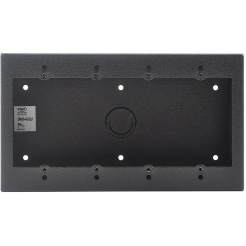 FSR 4-Gang Surface-Mount Wall Box (Black)