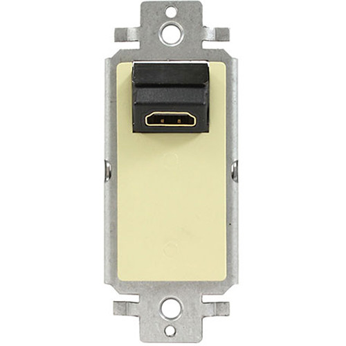 FSR Single-Gang Decora Wall Plate Interface with Right-Angle HDMI Pass-Through (Ivory)