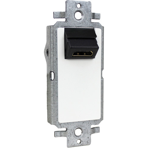 FSR Single-Gang Decora Wall Plate Interface with Right-Angle HDMI Pass-Through (White)