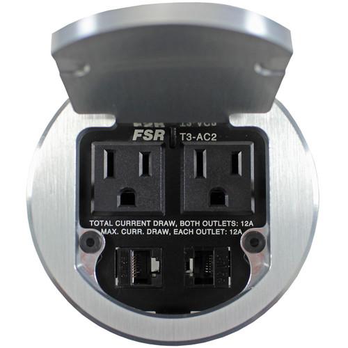 FSR T3-AC2HW Table Box (Round, Aluminum)