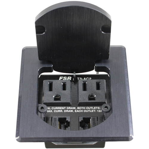 FSR T3-AC2HW Table Box (Square, Black)