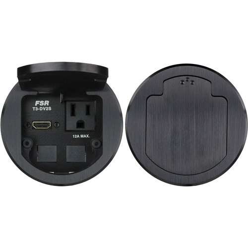 "FSR T3- DV2S 3.5"" HDMI Round Table Box (Black)"