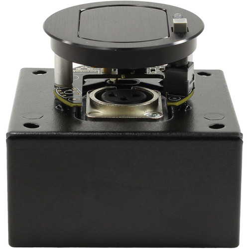 FSR T3-MJ1BM Table Microphone Mount Box with Mute & Improved Noise Isolation (Black Cover)