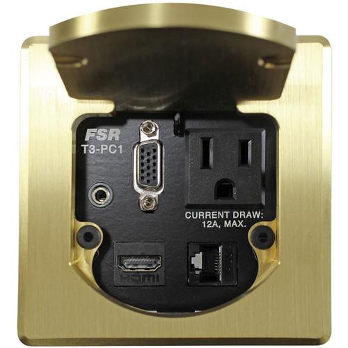 FSR T3-PC1D Square Table Box (Brass)