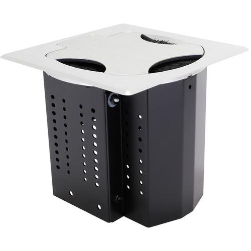 "FSR 6"" Square Table Box with No Brackets (Brush Insert, Aluminum)"