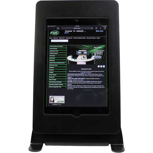 FSR iPad mini Table Mount with Rotate & Tilt Options (Black)