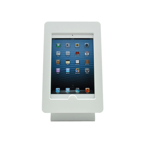 FSR iPad mini Table Mount with Rotate & Tilt Options (White)