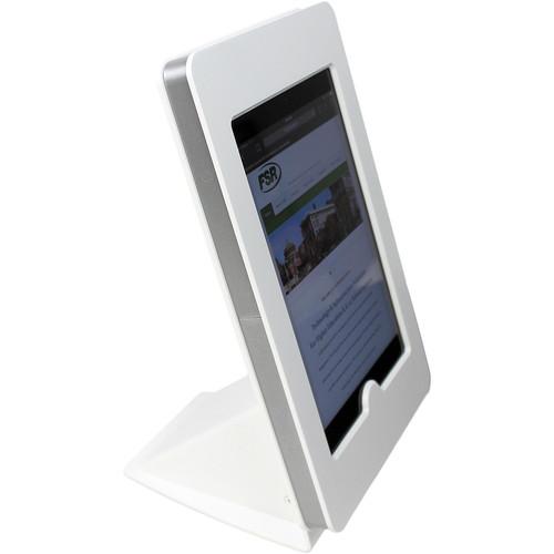 FSR iPad mini Table Mount with Rotate Tilt & Swivel Options (White)
