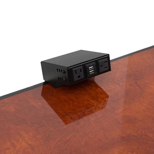 FSR TM-OT1SM-AC2CH Pre-Wired On-Table Mount for T6-LB-AC2CH Bracket (Black)