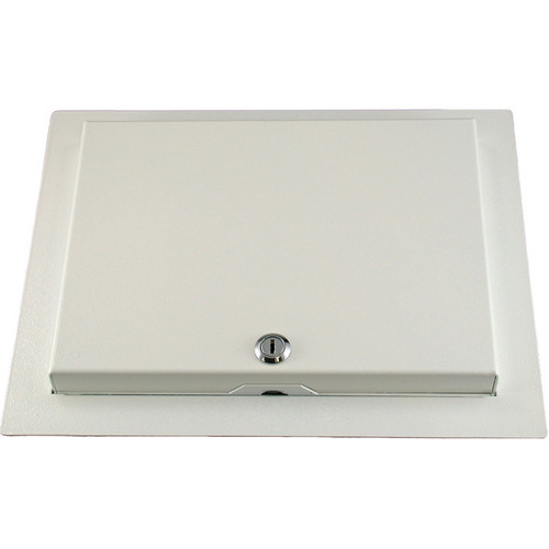 FSR WB-MR3G WB Series Recessed 3-Gang Wall Mounting Plate with Locking Metal Cover (White)