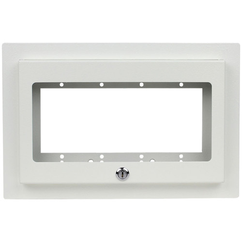 FSR Recessed 4-Gang Mounting Plate with Plastic Cover