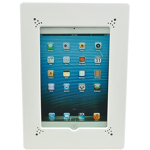 FSR Flush Mount with Back Box and Cover for iPad 2/3/4 with Home Button Access (White)