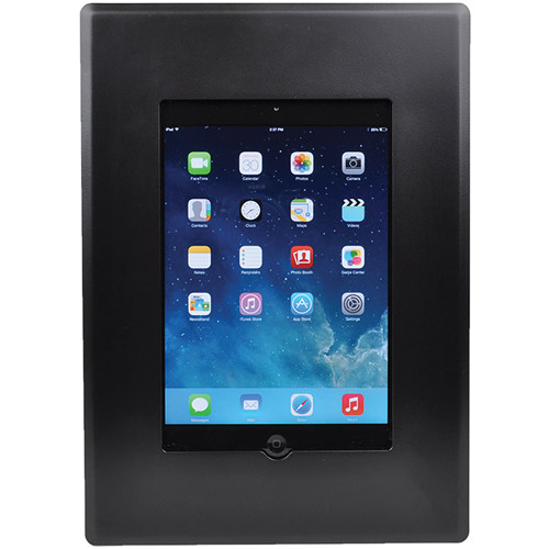 FSR Flush Mount with Back Box and Cover for iPad Mini with Home Button Access (Black)