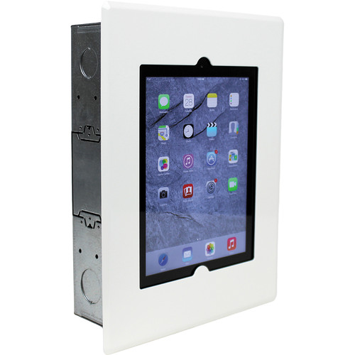 FSR Flush Mount with Back Box and Cover for iPad 2/3/4 (White)