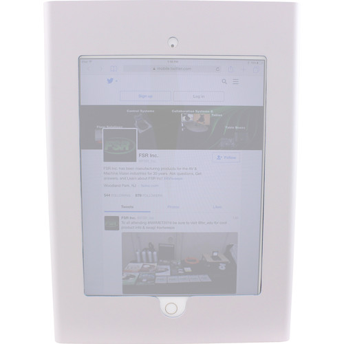 FSR Wall Enclosure with Access to Home Button & Camera for iPad Air 1/2 (White)