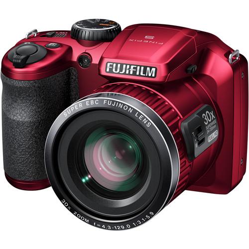 Fujifilm FinePix S6800 Digital Camera (Red)