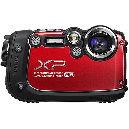 Fujifilm FinePix XP200 Digital Camera (Red)