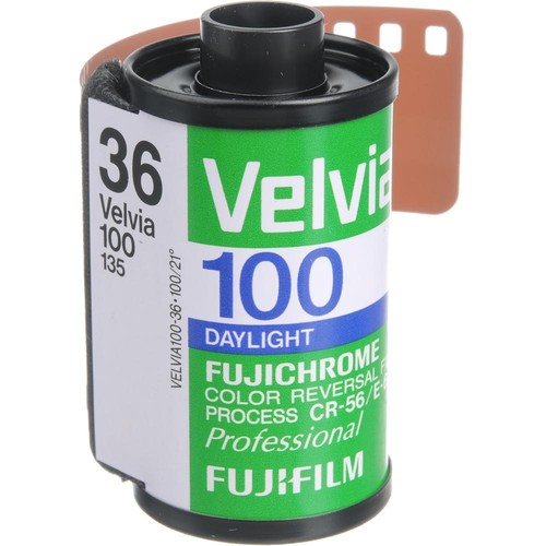 FUJIFILM Fujichrome Velvia 100 Professional RVP 100 Color Transparency Film (35mm Roll Film, 36 Exposures, Expired 07/17)