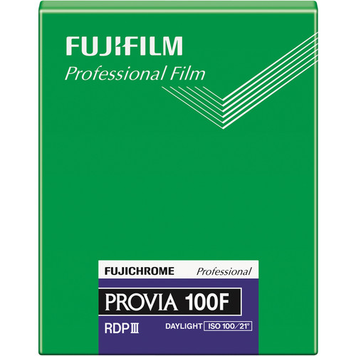 "Fujifilm Fujichrome Provia 100F Professional RDP-III Color Transparency Film (4 x 5"", 20 Sheets)"