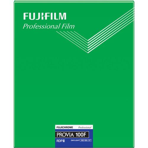 "Fujifilm Fujichrome Provia 100F Professional RDP-III Color Transparency Film (8 x 10"", 20 Sheets)"