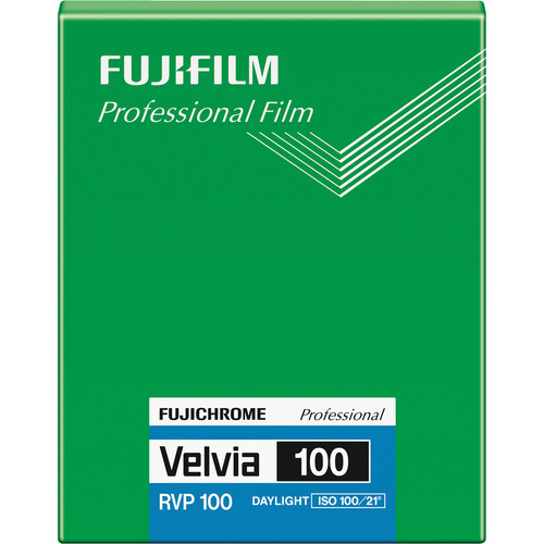 "Fujifilm Fujichrome Velvia 100 Professional RVP 100 Color Transparency Film (4 x 5"", 20 Sheets)"