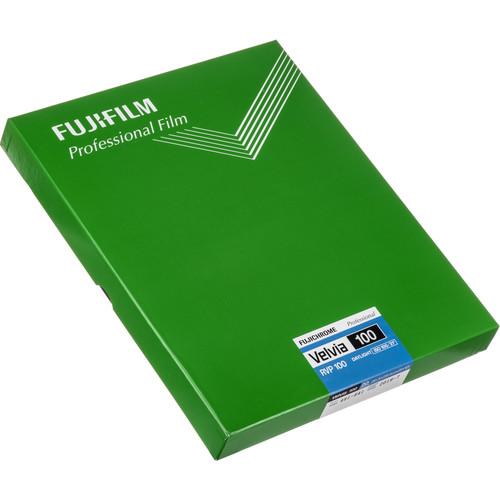 "FUJIFILM Fujichrome Velvia 100 Professional RVP 100 Color Transparency Film (8 x 10"", 20 Sheets)"