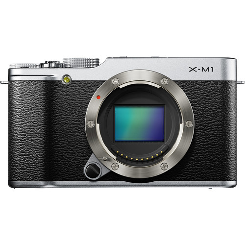 Fujifilm X-M1 Mirrorless Digital Camera (Body Only, Silver)