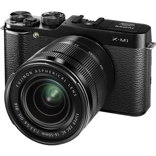 Fujifilm X-M1 Mirrorless Digital Camera with 16-50mm Lens (Black)