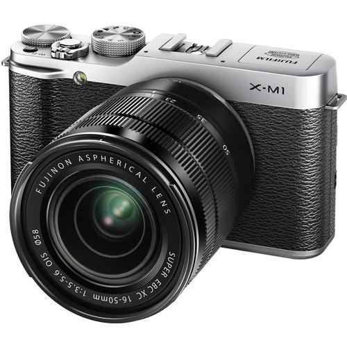 Fujifilm X-M1 Mirrorless Digital Camera with 16-50mm Lens (Silver)