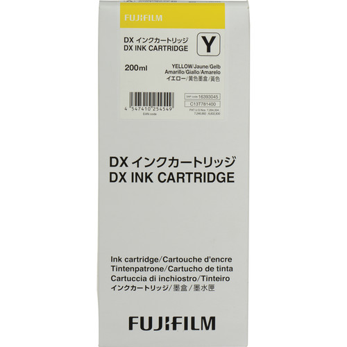 Fujifilm Yellow VIVIDIA Ink Cartridge for DX100 Printer
