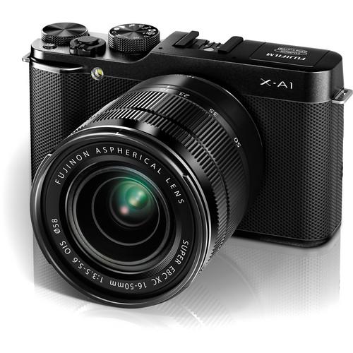 Fujifilm X-A1 Mirrorless Digital Camera with 16-50mm Lens (Black)