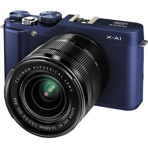 Fujifilm X-A1 Mirrorless Digital Camera with 16-50mm Lens (Indigo Blue)