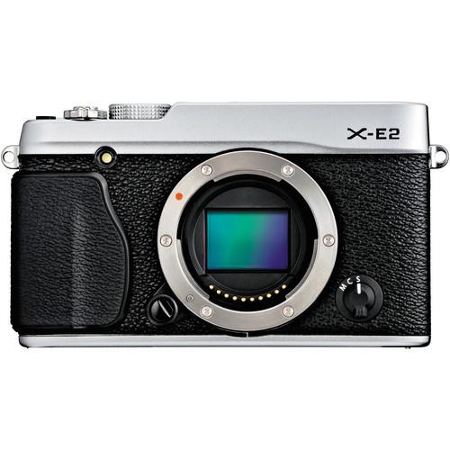 FUJIFILM X-E2 Mirrorless Digital Camera (Silver, Body Only)