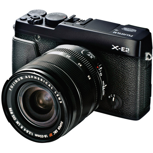 Fujifilm X-E2 Mirrorless Digital Camera with 18-55mm Lens (Black)