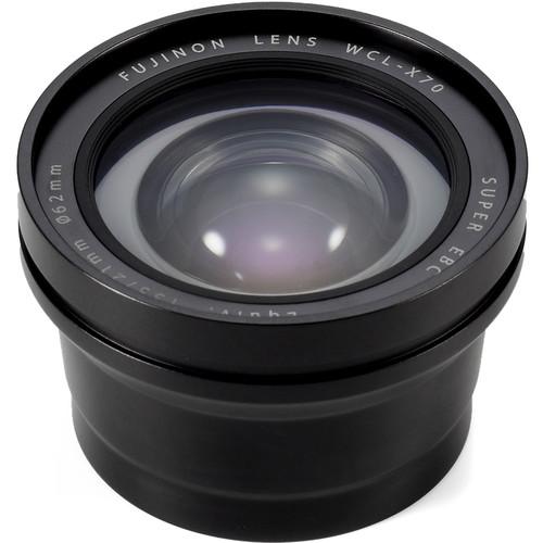 Fujifilm WCL-X70 Wide Conversion Lens for X70 Digital Camera (Black)