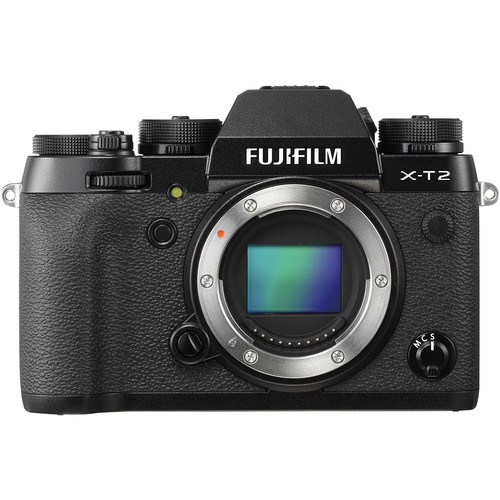 Fujifilm X-T2 Mirrorless Digital Camera Body with Battery Grip Kit (Black)