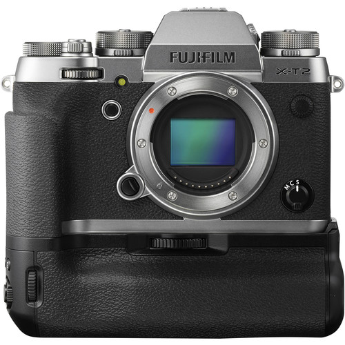 FUJIFILM X-T2 Mirrorless Digital Camera Body with Battery Grip Kit (Graphite Silver Edition)
